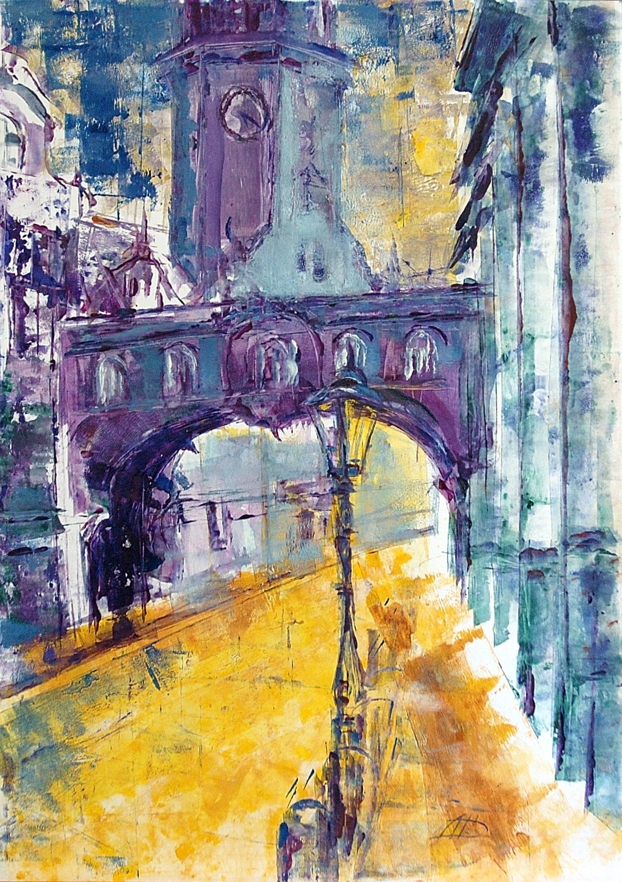 """Dresden """"das Schloss"""", Acryl (43x61cm)"""