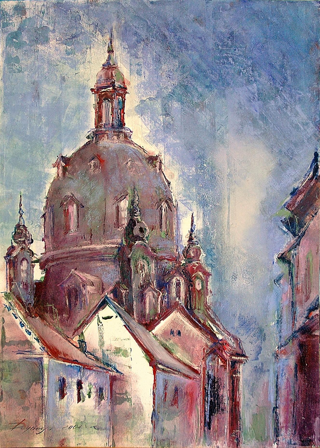 "Dresden ""Frauenkirche"", Acryl & Pastell (43x61cm)"