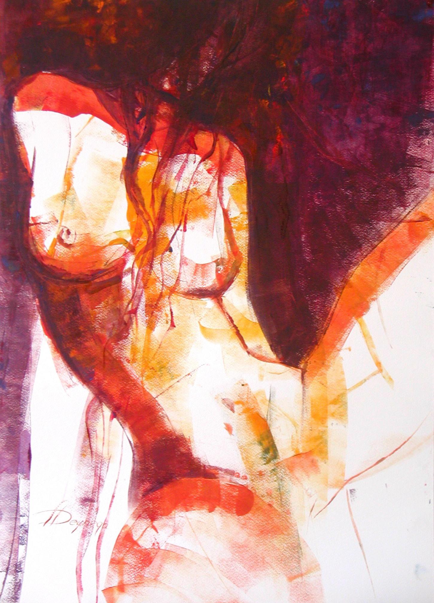 Akt I, Acryl (43x61 cm)