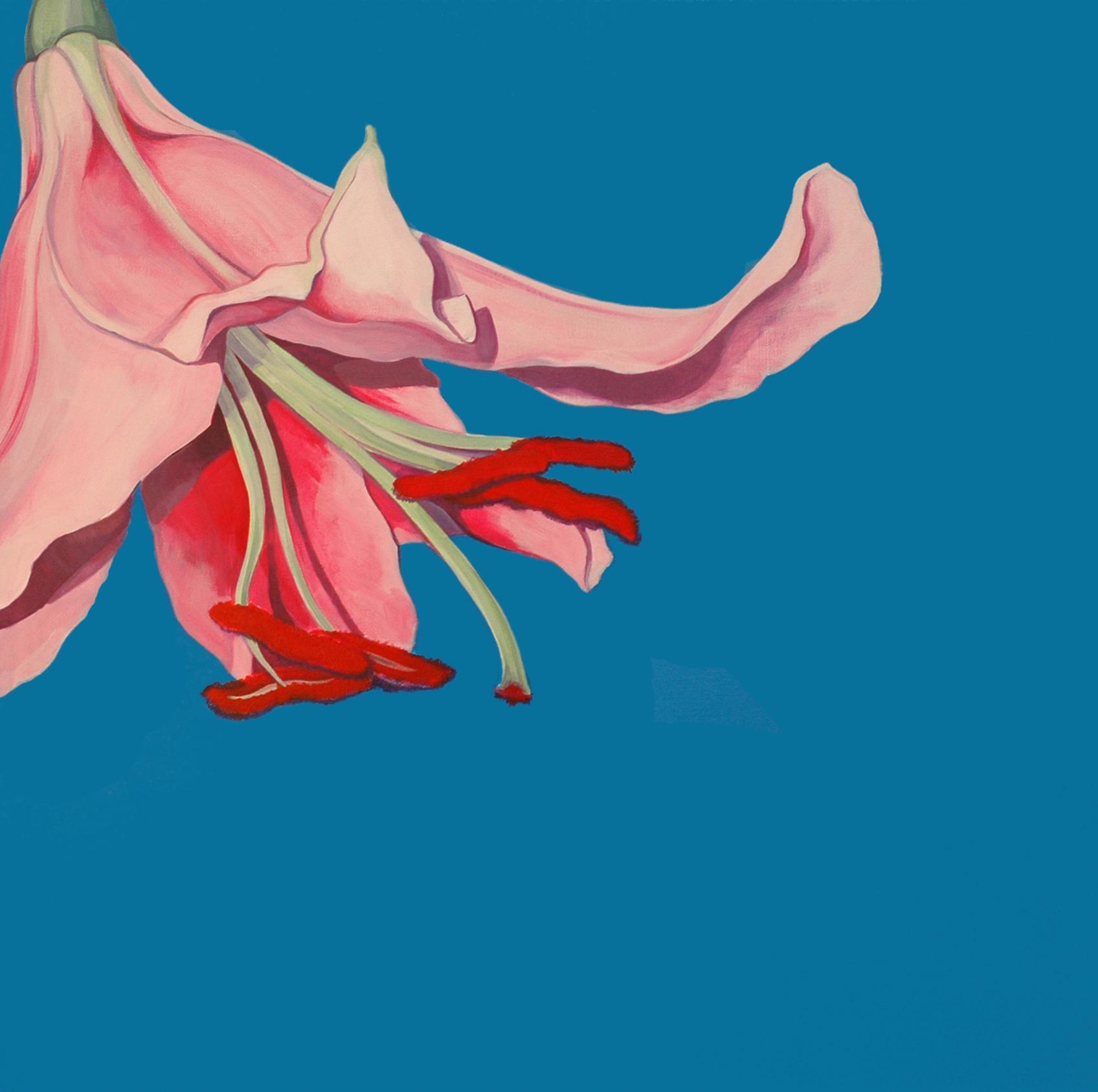 Die Lilie I, Acryl (80x80cm)